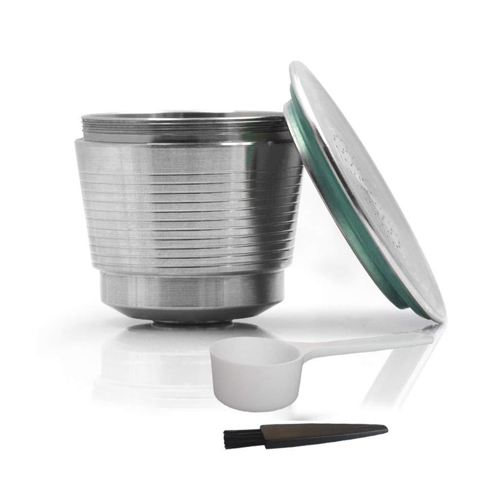 LetGoShop コーヒーカプセル、ステンレススチールコーヒーカプセルカップ、詰め替え可能再利用可能コーヒーフィルター、ネスポルッソコーヒーマシンと互換性があります。   B07JHRS548