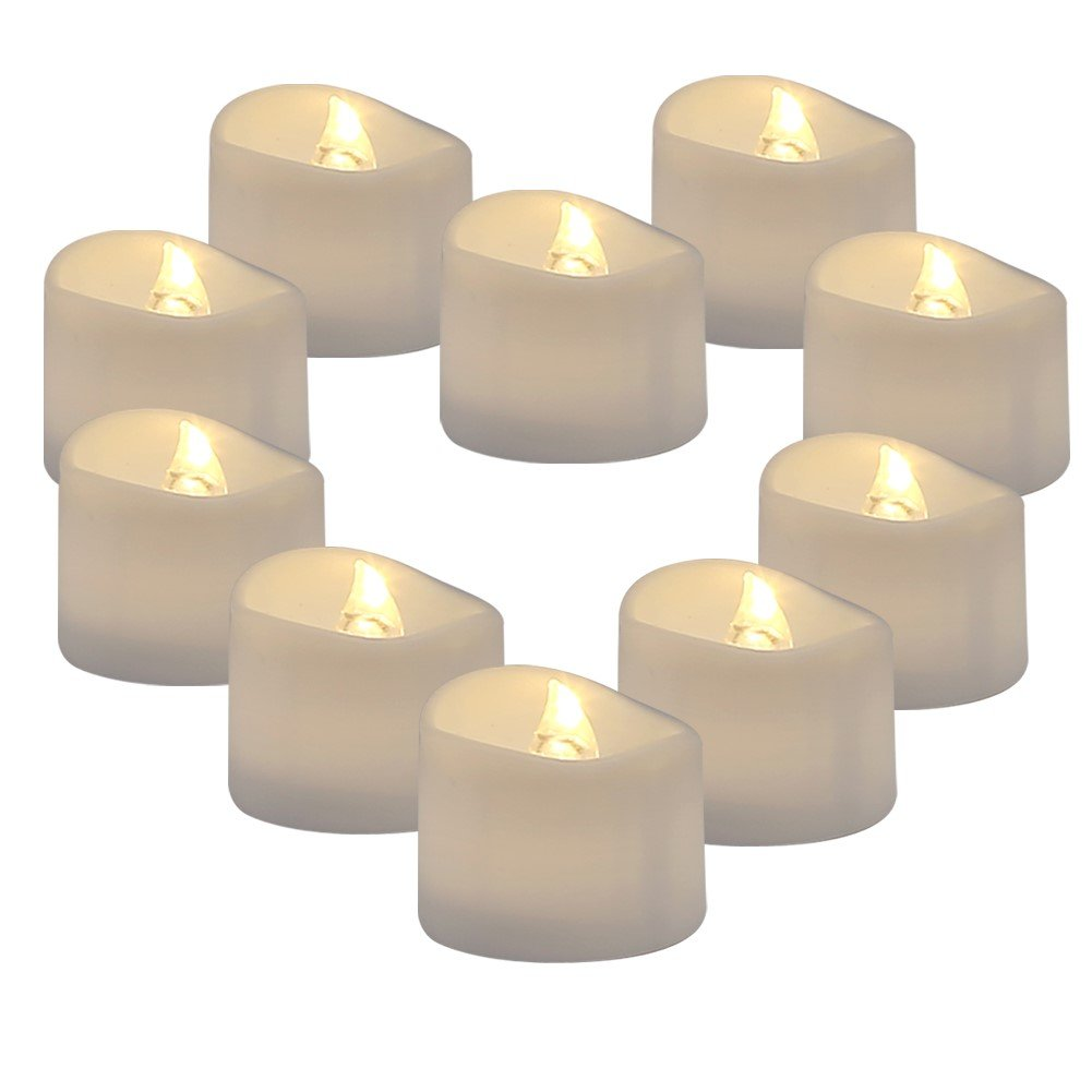 Raycare 36 Pack LED Flameless Tea Light Candles, Battery Tealight Candles, Warm White Realistic Flickering Bulb Light for Weeding, Votive, Patry, Home