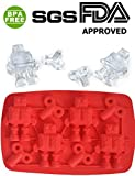 PERNY Robot Ice cubes, Ice Trays and Candy molds, BPA free