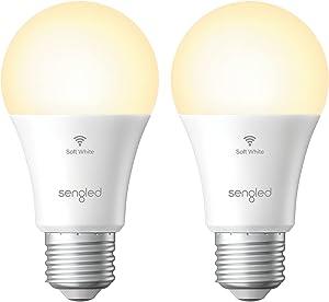 "Sengled Smart Light Bulbs, Alexa Light Bulb, Smart Bulbs That Work with Alexa & Google Assistant, WiFi Light Bulbs A19 Soft White (2700K) No Hub Required, 800LM 60W Equivalent High CRI>90, 2 Pack"" /></a></div> <div class="