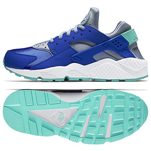 Price comparison product image Nike WMNS Air Huarache Run 634835-404 Racer Blue/Grey/Turquoise Women's Shoes (size 5)