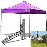 ABCCANOPY 30+colors Pop Up Canopy 10 X 10-feet Commercial Instant Canopy Kit Ez Pop up Canopy Bonus Wheeled Bag, Purple