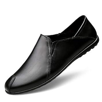 YAN Zapatos de Cuero para Hombres, Zapatos de Vestir Mocasines y Zapatillas sin Cordones Primavera/Verano / Otoño Zapatos para Caminar Boda y Noche ...