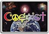 Coexist – motivational inspirational quotes fridge magnet