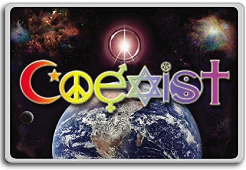 Coexist – motivational inspirational quotes fridge magnet