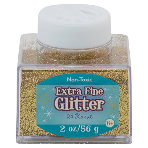 Sulyn Extra Fine 24 Karat Gold Glitter Stacker Jar, 2 ounces, Non-Toxic, Stackable and Reusable Jar, Multiple Slot Openings for Easy Dispensing and Mess Reduction, SUL50862 from Sulyn