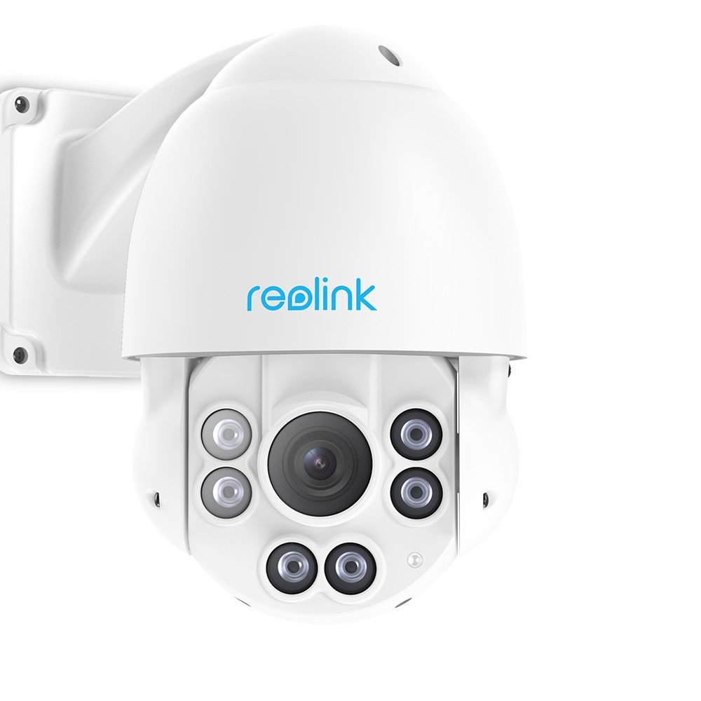 Reolink PTZ Camera Outdoor 5MP Super HD Work with Google Assistant, PoE IP Security Monitor IR Night Vision Pan Tilt 4X Optical Zoom Motion Detection Video Surveillance Dome RLC-423 by REOLINK