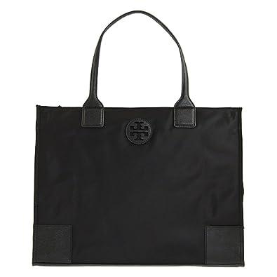 49680c4335b7 Tory Burch Ella Packable Tote Nylon TB Logo (Black)  Handbags  Amazon.com