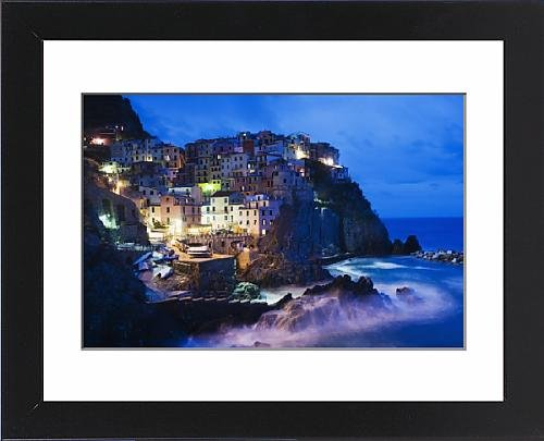 Framed Print of Clifftop village of Manarola, Cinque Terre, UNESCO World Heritage Site - Clifftop Village