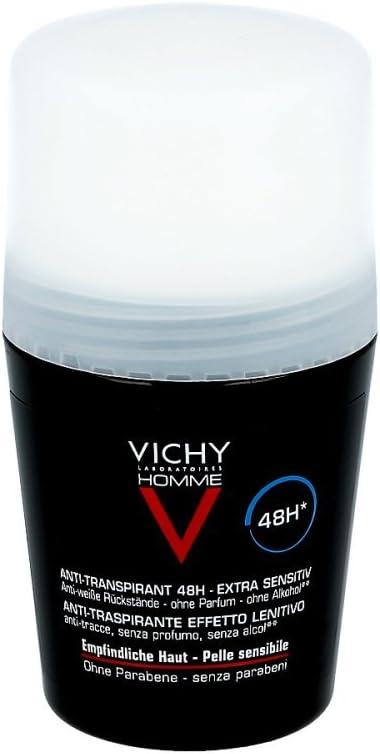 Desodorante Vichy Homme Roll-on para piel sensible 50 ml lápices 50 ml