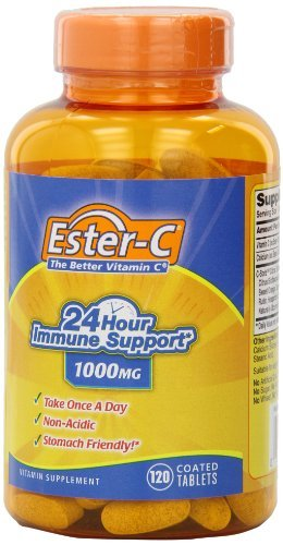 Ester-C Vitamin C, 1000 mg, Pack of 3 (120 Tablets Each)
