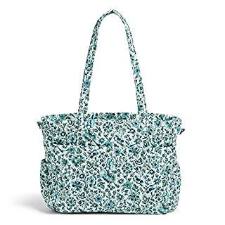 Vera Bradley Signature Cotton Ultimate Baby Diaper Bag, Cloud Vine