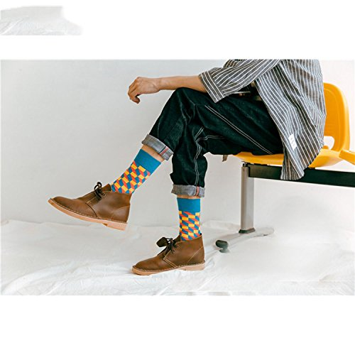 Amazon.com: Mens Happy Socks 27Colors Striped Plaid Diamond Cherry Socks Men Combed Cotton Calcetines Largos Hombre: Clothing