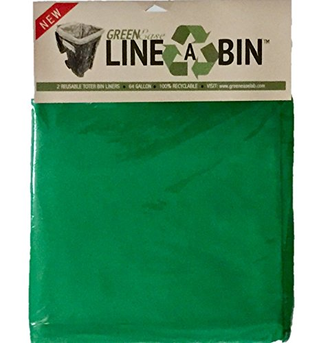 Collection Winter Liners (#1 REUSABLE TRASH CAN & RECYCLING BIN LINERS - PATENT PENDING - EARTH & ECO-FRIENDLY - GREEN! - TOTER / TOTE LINER Great for Lawn Cleanup - Home, Municipal, & Township Collection Bins - 64 Gal / 242L)