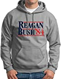reagan bush 84 sweater - Reagan Bush Hoodie Republican Election Hooded Sweatshirt Grey M