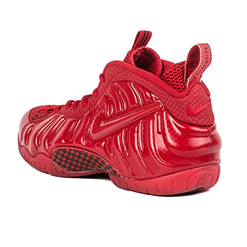 "Nike Herren Air Foamposite Pro ""Red October"" Gym Rot / Schwarz Synthetischer Basketball Gym Rot / Schwarz"