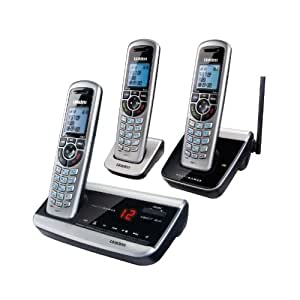 Uniden Long Range Cordless Telepohone with Digital Answering System DECT3380-3R