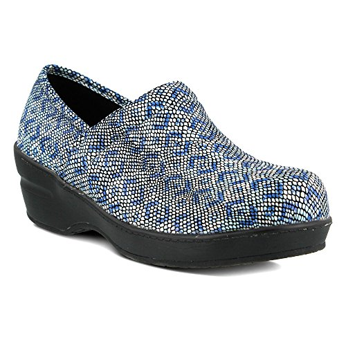 Spring Step Professional Womens Neppie Work Shoe Pitone Maculato Blu Reale