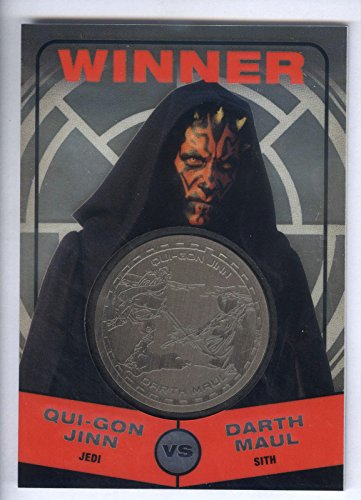 Collectible Silver Medallion - 2015 Star Wars Chrome Perspectives Medallions Silver Winner: Darth Maul #111/150