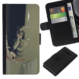 NEECELL GIFT forCITY // Billetera de cuero Caso Cubierta de protección Carcasa / Leather Wallet Case for Samsung Galaxy A3 // Otro