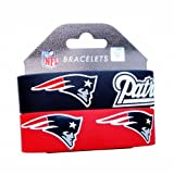 New England Patriots Wrist Band (Set of 2) NFL by aminco