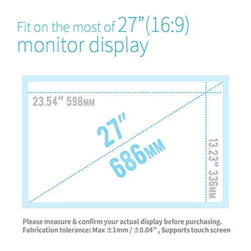 X-blue, 27'' 16:9 Screen, Highest Blue Light Protection Film, Anti Blue Light Screen Protector, Notebook Computer, Anti-Glare, Anti-Bacterial, Anti-Scratch, Easiest to Install by X-blue (Image #4)