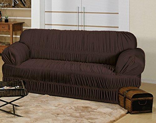 Capa Elasticada para sofá de 3 Lugares - Tabaco