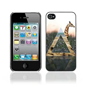 Designer Depo Hard Protection Case for Apple iPhone 4 4S / Cool Giraffe & Nature