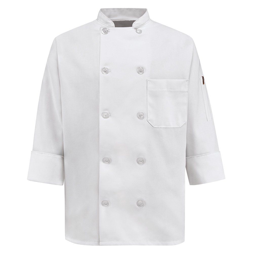 Wrangler Workwear Chef Designs Women's Chef Coat, White, Medium
