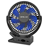 OPOLAR Golf Cart Fan, 5000mAh Rechargeable Battery Operated Portable Personal Fan, Quiet Strong Wind, 7 Blade, Outdoor Camping, Office Quiet Operation