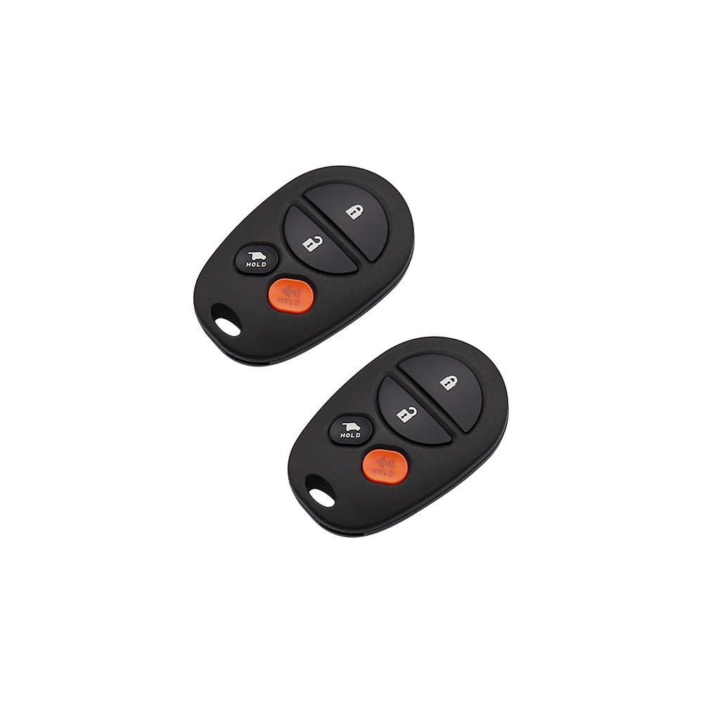 Set of 2 DRIVESTAR Keyless Entry Remote Car Key Replacement for 2004-2016 Toyota Sienna Replacement for GQ43VT20T