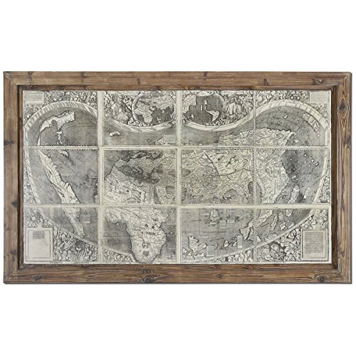 Uttermost 34025 Treasure Map Framed Art