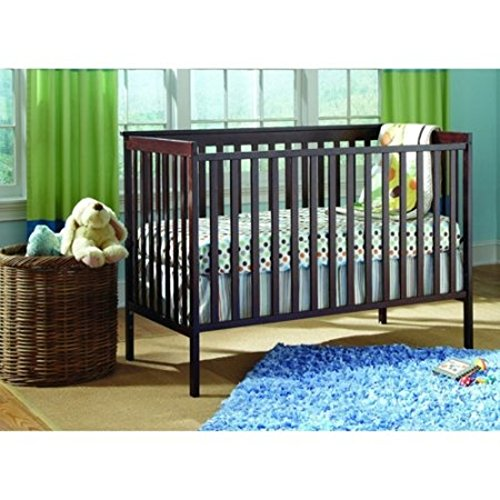 Jenny Lind Baby Cradle (Stork Craft Sheffield Fixed Side 4 in 1 Convertible Baby Crib (Expresso))