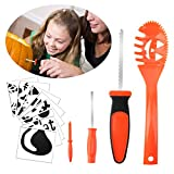 Halloween Pumpkin Carving Kit Kids MerryMore 4 Halloween Pumpkin Carving Tools & 8 Free Halloween Carving Stencils Templates