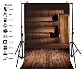Leyiyi 6x8ft Photography Background Hard Cover Books Backdrop Vintage Study Old Bookshelf Wisdom Literature Education College Grunge Board Church Baby Shower Photo Portrait Vinyl Studio Video Prop