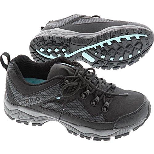Fila Womens Switchback2 Sneaker Da Trekking Impermeabile Nero / Grigio / Menta