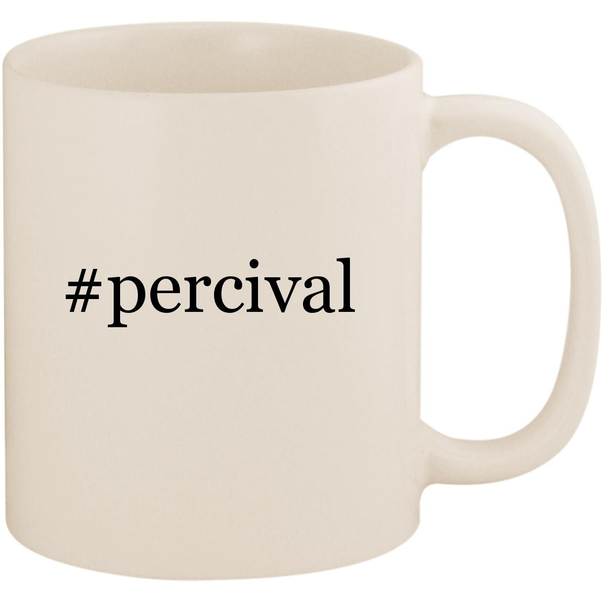 # percival – 11オンスセラミックコーヒーマグカップ ホワイト  ホワイト B07FM83F8Y