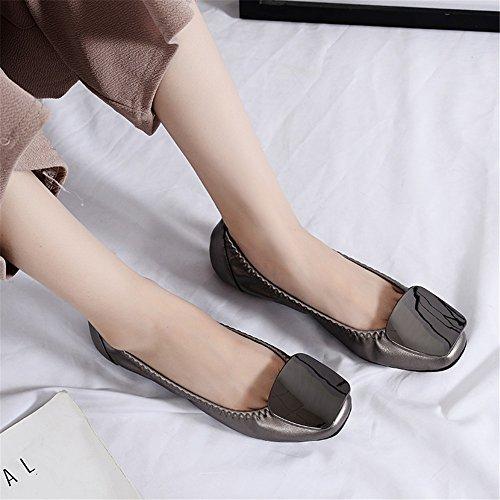 Ons para Flat Mujer 2018 Planos Zapatos Trabajo Moda Microfibra Nuevos D Informal Suave Heel de Otoño Flats Comfort Slip Zapatos Mocasines Primavera Guisantes de tZwRqZv