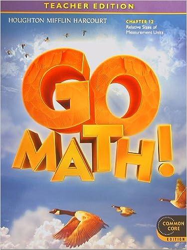 GO MATH Common Core Teacher Edition Grade 4