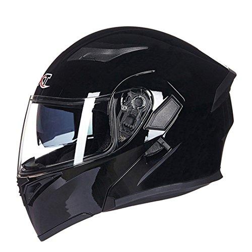 Manngsr Double Sunshade Full Face Motorcycle Helmet Racing Motorcycle Flip Cool Helmet 2 L (Hawk Novelty Helmet)