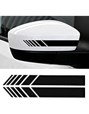 YOUNGFLY 2pcs Car Rear View Mirror Stickers Decor DIY Car Body Sticker Side Decal Stripe Decals SUV Vinyl Graphic