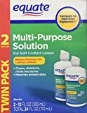 Equate - Multi-Purpose Contact Lenses Solution - 2-Pack 12 oz Each offers