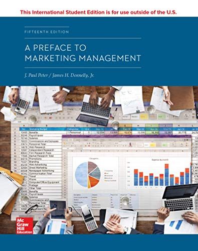 A Preface To Marketing Management 15Th Edition
