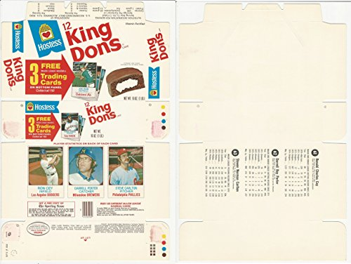 1975 Hostess Panel Baseball, 61, 62, 63 Carlton, Cey, Porter, Complete Box WMX - 1975 Hostess Baseball