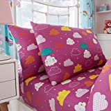 Gaveno Cavailia Unicorn Fairytale Kids Children Design Luxurious Duvet Cover Sets Reversible Bedding Sets with Pillowcases/Fitted Bed Sheets GC (Single Matching Fitted Sheet)