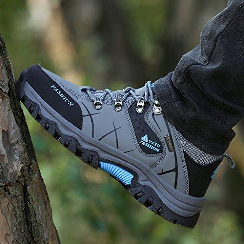 Montagne Randonnée Hiver Homme Laiwodun Sports Marche Baskets 1 Chaudes Bottes Chaussures Gris Outdoors De Hiver Montantes 8CvwE1qw