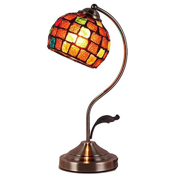 Lámpara de cristal marroquí turca, lámparas de mesa creativas de ...