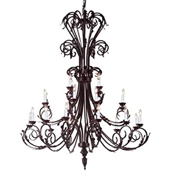 Large foyer entryway wrought iron chandelier 50 inches tall large foyer entryway wrought iron chandelier 50 inches tall aloadofball Gallery