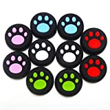 XFUNY(TM) 5 Pair/10 PCS Replacement Silicone Analog Controller Joystick Thumb Stick Grips Caps Cover for PS4 PS3 PS2 Xbox One/360 Game Controller