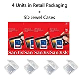 Lot of 4 SanDisk 16GB SD SDHC Class 4 Flash Memory Camera Card SDSDB-016G-B35 Pack + ( 4 Jewel Cases )